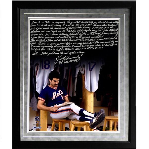 Keith Hernandez Facsimile '86 Buckner Game' Framed Metallic 16x20 Story Photo