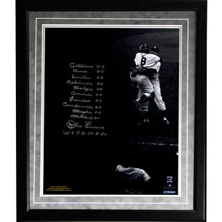 Don Larsen Facsimile 'World Series Perfect Game' Lineup Framed Metallic 16x20 Story Photo