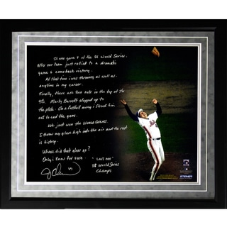 Jesse Orosco Facsimile '1986 World Series Last Out' Framed Metallic 16x20 Story Photo