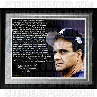 Joe Torre Facsimile '1998 Team of the Century' Framed Metallic 16x20 Story Photo