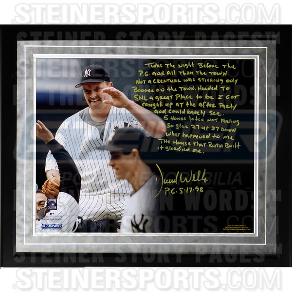 David Wells Facsimile 'Perfect Game' Framed Metallic 16x20 Story Photo