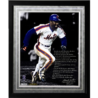 Mookie Wilson Facsimile '86 Buckner Game' Framed Metallic 16x20 Story Photo