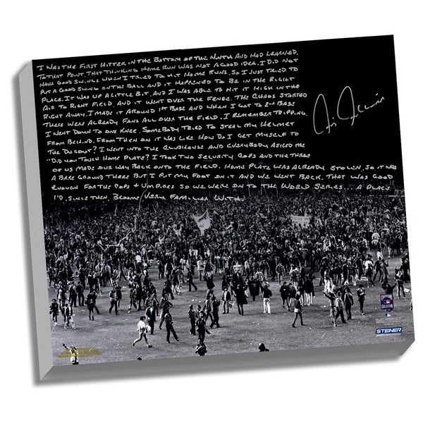 Chris Chambliss Facsimile '76 ALCS Walk-Off HR' Stretched 22x26 Story Canvas