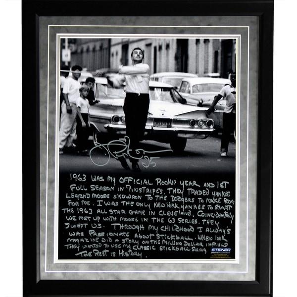 Joe Pepitone Facsimile 'Stickball' Framed Metallic 16x20 Story Photo