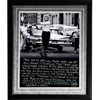 Joe Pepitone Facsimile 'Stickball' Framed Metallic 16x20 Story Photo