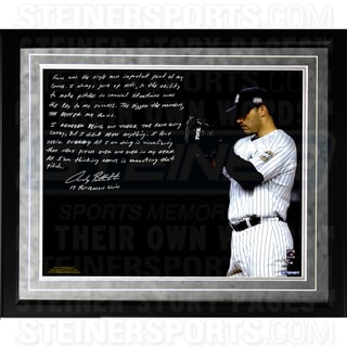 Andy Pettitte Facsimile 'Postseason Focus' Framed Metallic 16x20 Story Photo