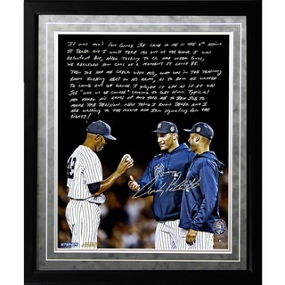 Andy Pettitte Facsimile 'Taking Out Mo' Framed Metallic 16x20 Story Photo