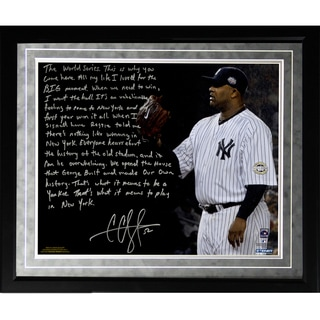 CC Sabathia Facsimile 'Winning in New York'Framed Metallic 16x20 Story Photo