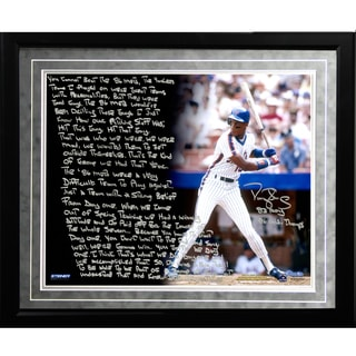 Darryl Strawberry Facsimile '1986 Mets' Framed Metallic 16x20 Story Photo