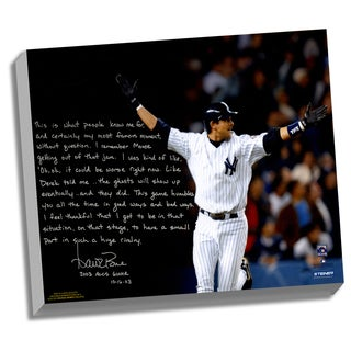 Aaron Boone Facsimile '2003 ALCS Game 7 Walk-Off' Stretched 22x26 Story Canvas