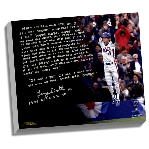 Lenny Dykstra Facsimile '86 NLCS Walk-Off HR' Stretched 22x26 Story Canvas