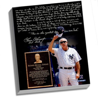 Goose Gossage Facsimile 'Goose Gossage Day' Stretched 22x26 Story Canvas