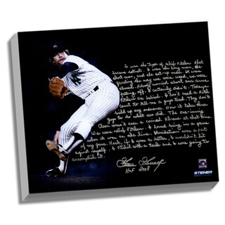 Goose Gossage Facsimile 'On Closing' Stretched 22x26 Story Canvas