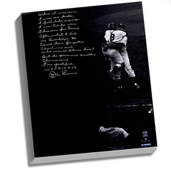 Don Larsen Facsimile 'World Series Perfect Game' Stretched 22x26 Story Canvas