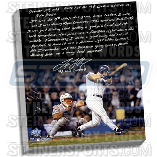 Tino Martinez Facsimile '98 WS Grand Slam' Stretched 22x26 Story Canvas