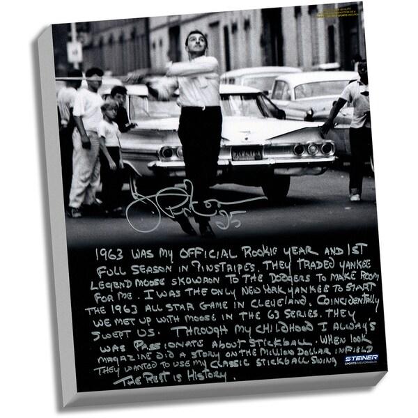 Joe Pepitone Facsimile 'Stickball' Stretched 22x26 Story Canvas