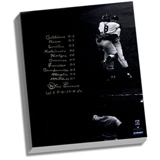 Don Larsen Facsimile 'World Series Perfect Game' Lineup Stretched 22x26 Story Canvas