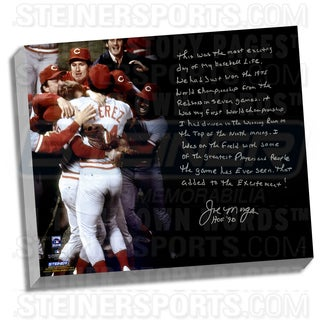 Joe Morgan Facsimile 'Big Red Machine' Stretched 22x26 Story Canvas