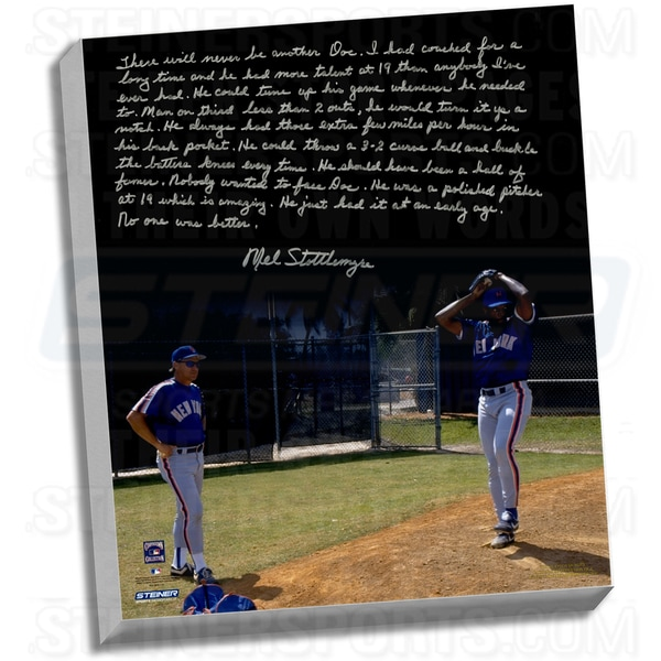 Mel Stottlemyre Facsimile ' Coaching Doc' Stretched 22x26 Story Canvas