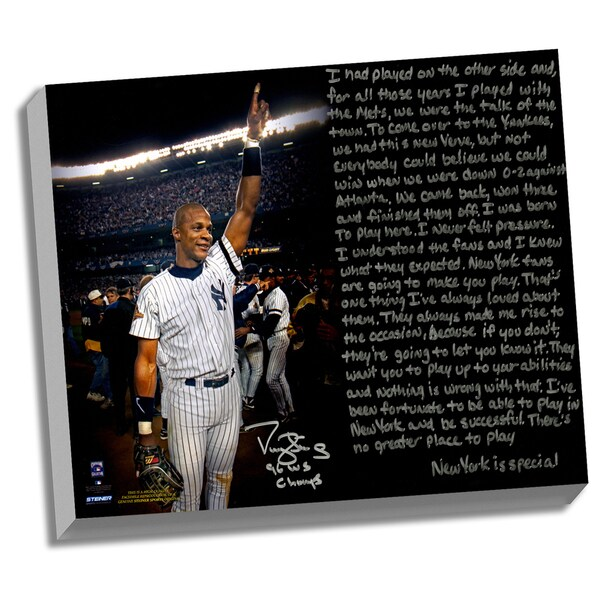 Darryl Strawberry Facsimile '1996 World Series' Stretched 22x26 Story Canvas