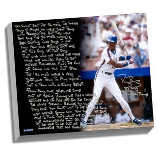 Darryl Strawberry Facsimile '1986 Mets' Stretched 22x26 Story Canvas