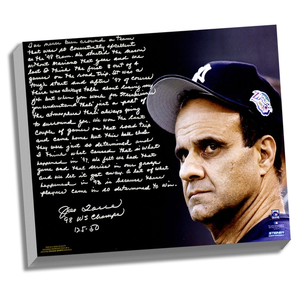 Joe Torre Facsimile '1998 Team of the Century' Stretched 22x26 Story Canvas