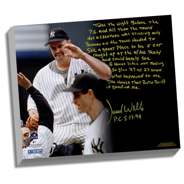 David Wells Facsimile 'Perfect Game' Stretched 22x26 Story Canvas