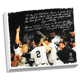 John Wetteland Facsimile '1996 World Series' Stretched 22x26 Story Canvas