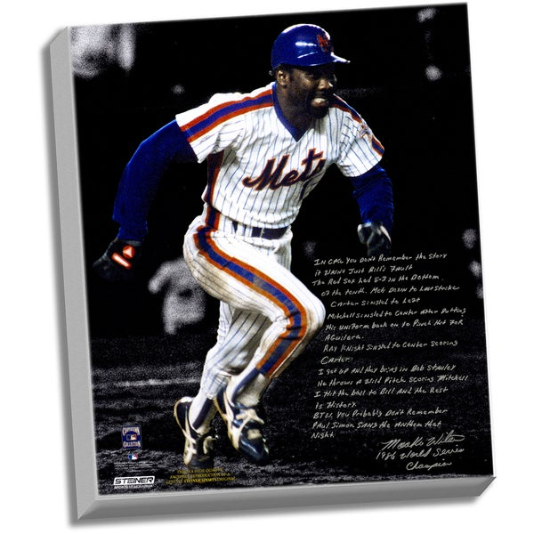 Mookie Wilson Facsimile '86 Buckner Game' Stretched 22x26 Story Canvas