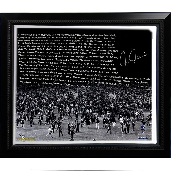 Chris Chambliss Facsimile '76 ALCS Walk-Off HR' Framed Stretched 22x26 Story Canvas