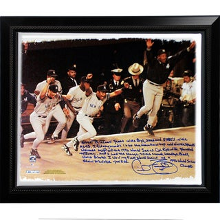 Cecil Fielder Facsimile '1996 World Series' Story Stretched Framed 22x26 Story Canvas