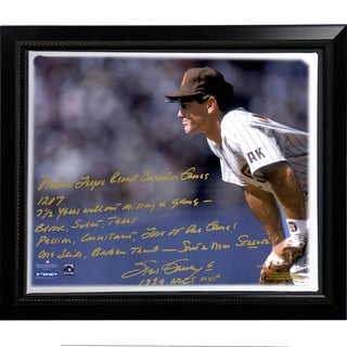 Steve Garvey Facsimile 'NL Consecutive Streak' Story Stretched Framed 22x26 Story Canvas
