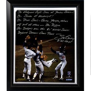 Steve Garvey Facsimile '81 WS Celebration' Story Stretched Framed 22x26 Story Canvas