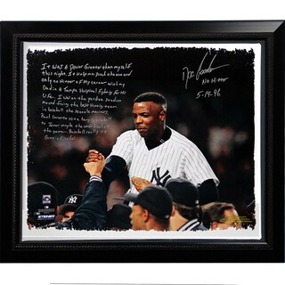 Doc Gooden Facsimile 'Yankees No-Hitter' Story Stretched Framed 22x26 Story Canvas