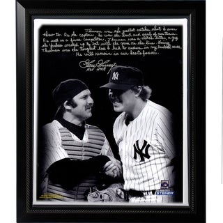 Goose Gossage Facsimile 'Thurman M on' Story Stretched Framed 22x26 Story Canvas