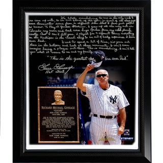Goose Gossage Facsimile 'Goose Gossage Day' Story Stretched Framed 22x26 Story Canvas