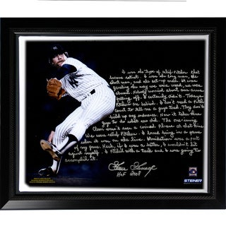 Goose Gossage Facsimile 'On Closing' Story Stretched Framed 22x26 Story Canvas