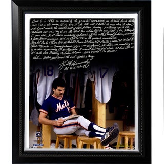 Keith Hernandez Facsimile '86 Buckner Game' Story Stretched Framed 22x26 Story Canvas