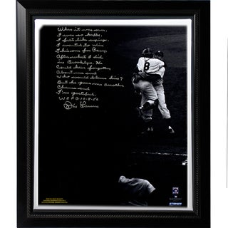 Don Larsen Facsimile 'World Series Perfect Game' Story Stretched Framed 22x26 Story Canvas