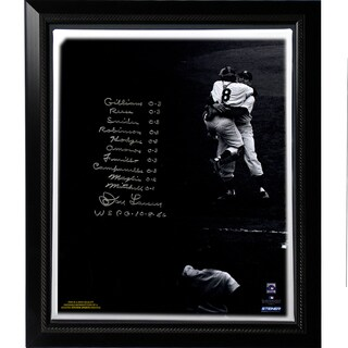 Don Larsen Facsimile 'World Series Perfect Game' Lineup Stretched Framed 22x26 Story Canvas