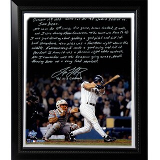 Tino Martinez Facsimile '98 WS Grand Slam' Stretched Framed 22x26 Story Canvas