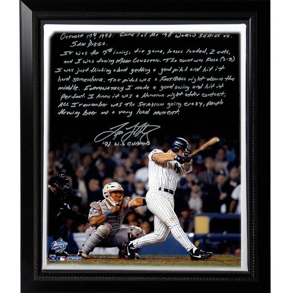 Tino Martinez Facsimile '98 WS Grand Slam' Stretched Framed 22x26 Story Canvas