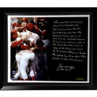 Joe Morgan Facsimile 'Big Red Machine' Story Stretched Framed 22x26 Story Canvas