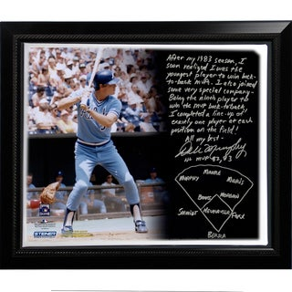 Dale Murphy Facsimile 'Back-to-Back MVPs' Story Stretched Framed 22x26 Story Canvas