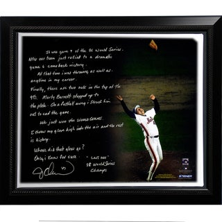 Jesse Orosco Facsimile '1986 World Series Last Out' Story Stretched Framed 22x26 Story Canvas