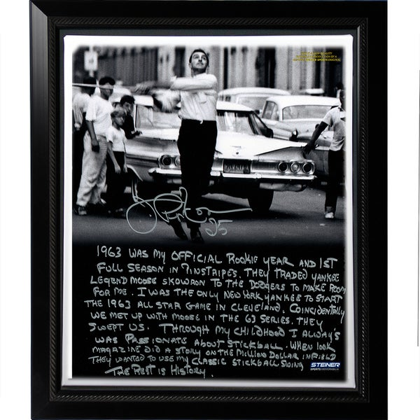Joe Pepitone Facsimile 'Stickball' Story Stretched Framed 22x26 Story Canvas