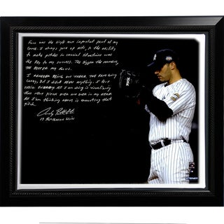 Andy Pettitte Facsimile 'Postseason Focus' Framed Stretched 22x26 Story Canvas