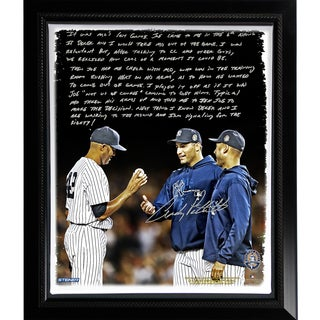 Andy Pettitte Facsimile 'Taking Out Mo' Story Stretched Framed 22x26 Canvas