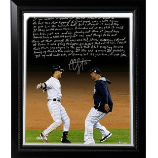 CC Sabathia Facsimile 'Jeter's Yankee Farewell' Story Stretched Framed 22x26 Canvas