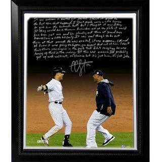 CC Sabathia Facsimile 'Jeter's Yankee Farewell' Story Stretched Framed 22x26 Canvas